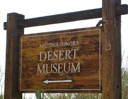 Arizona Sonora Desert Museum Sign