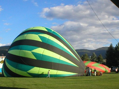 Arizona Hot Air Balloon Inflated