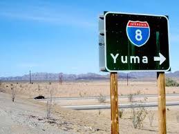 Yuma Arizona Road Sign