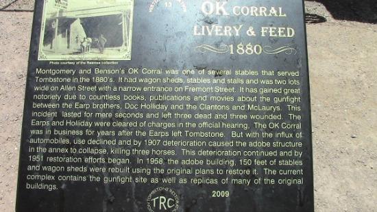 OK Corral Livery & Feed 1880